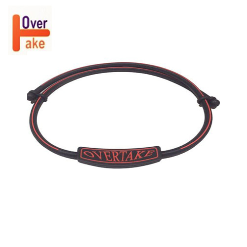 Overtake - Necklace - Black red