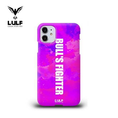 LULF - BULLS FIGHTER 유광하드 PURPLE PHONE CASE - 전기종있음