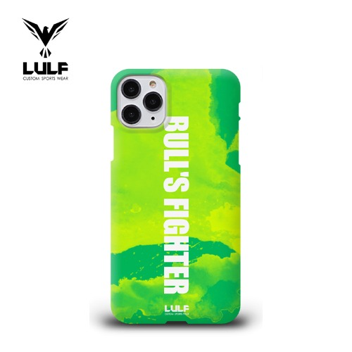 LULF - BULLS FIGHTER 유광하드 GREEN PHONE CASE - 전기종있음