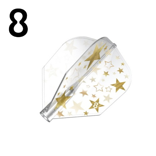 8 flight - Gold Star - Clear - Shape (3pcs)