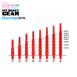 Fit Shaft - GEAR - NORMAL - Clear Red