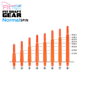 Fit Shaft - GEAR - NORMAL - Clear Orange