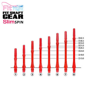 Fit Shaft - GEAR - SLIM - Clear Red