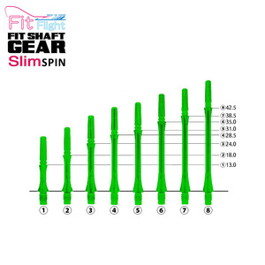 Fit Shaft - GEAR - SLIM - Clear Green